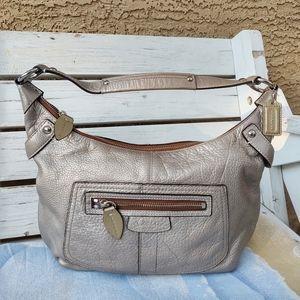 Coach Penelope 13159 Silver Leather Hobo Shldr Bag